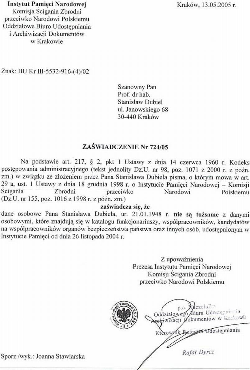 Stanislaw Mieczyslaw Dubiel
